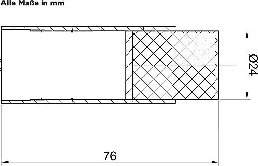 SO-TECH/® T/ürstopper TOPPER echt Edelstahl /Ø 30 mm Wandabstand 30 mm Wandt/ürstopper