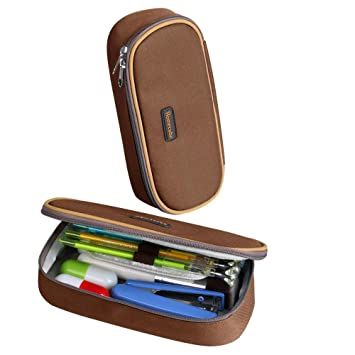 cool handy office supplies. Homecube Pencil, HomeCube Pencil Cases With Large Capacity Of Stationery Handy For Students (Brown Cool Office Supplies T