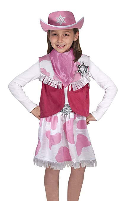 Amazon Com Melissa Doug Role Play Cowgirl Costume Set Melissa