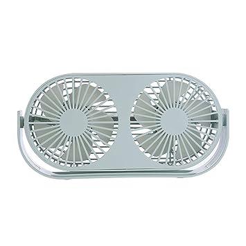 WOZOW Mini ventilador de escritorio, escritorio personal portátil, cochecito, ventilador de mesa,