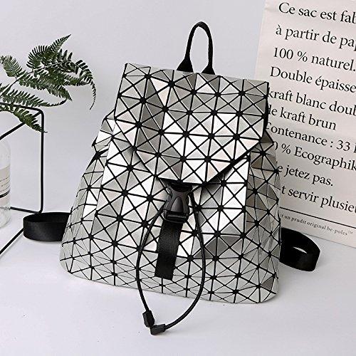 Meoaeo Style À L'Été Sac Mosaïque Nouveau Dos L'Automne Géométriques Type Et silvery D'Étudiant 2017 Motifs rCgrq