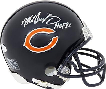 Mike Singletary Autographed Chicago Bears Blue Riddell Speed Replica Full Size Helmet w//JSA COA