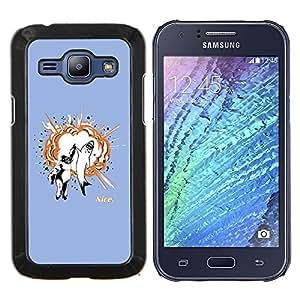 Stuss Case / Funda Carcasa protectora - Gorila & Shark Explosión - Samsung Galaxy J1 J100