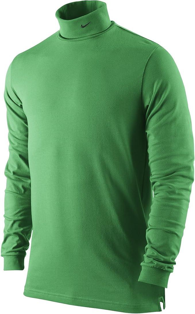 Men/'s Cotton Plain High Collar Turtle Neck Stretch Shirts Long Sleeve Sweater US