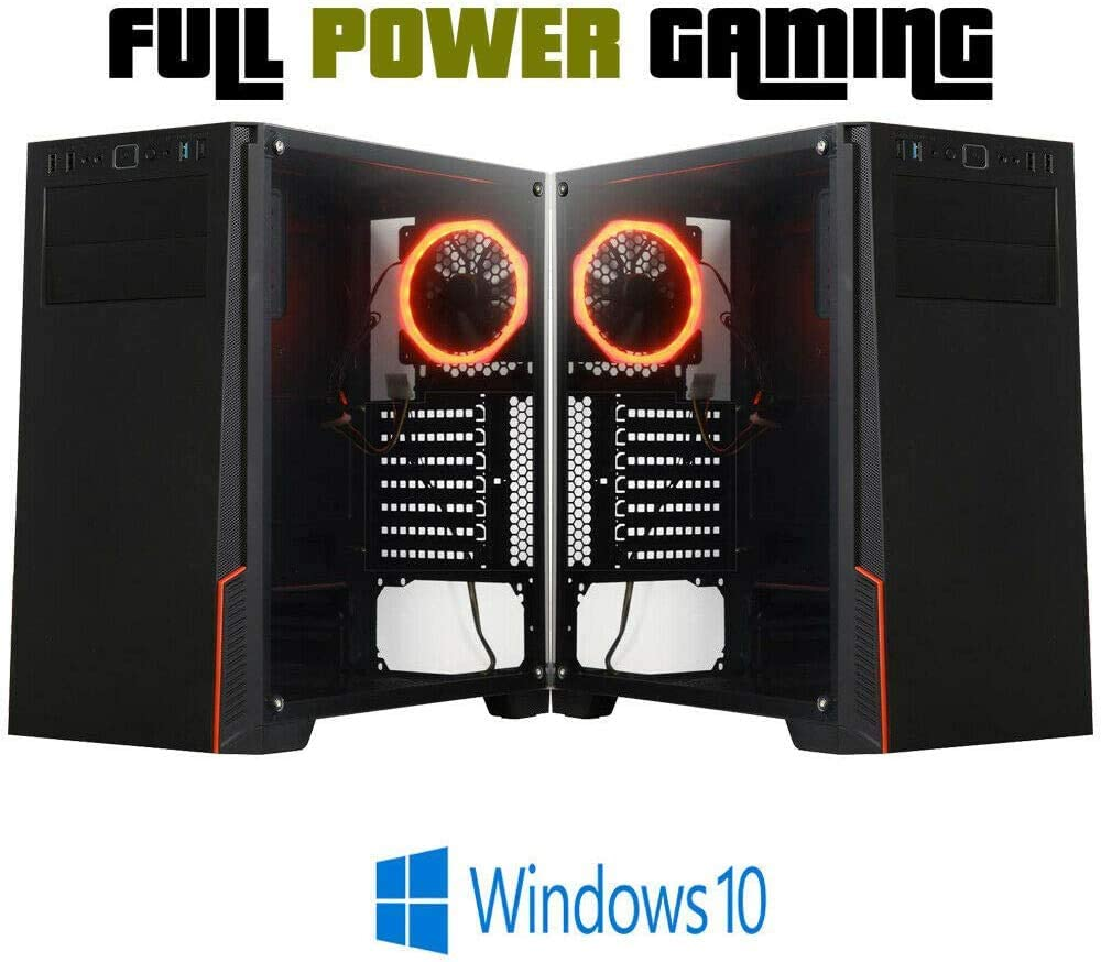 Basic 10 Core Gaming Pc Custom Built Led Lights Latest Generation Amd A8 9600 8gb Ddr4 Ram 3 4 Ghz Turbo Quad Core Cpu 6 Core Gpu Custom Built Gaming Desktop Pc Budget