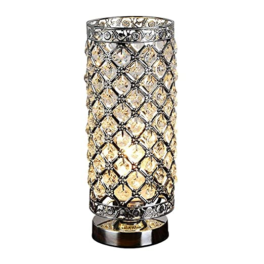 Wvfguj Lámparas de Escritorio E27 de la lámpara de Mesa de Cristal ...