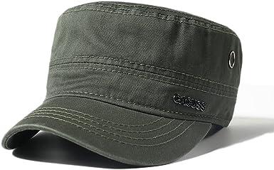 CACUSS Gorra Militar de algodón para Hombres Sombrero cadete ...