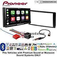 Volunteer Audio Pioneer AVH-W4400NEX Double Din Radio Install Kit with Wireless Apple CarPlay, Android Auto, Bluetooth Fits 2006-2012 Hyundai Santa Fe
