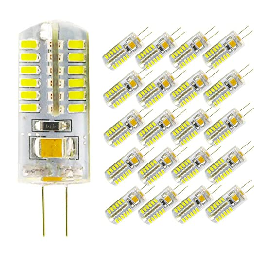 Juego de 20 bombillas LED G4 de 4 W, repuesto para bombilla halógena de 40 W, ...