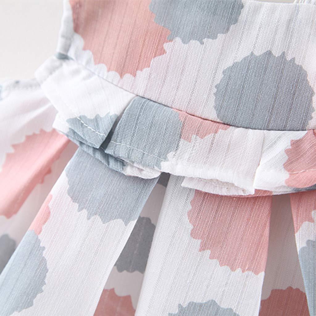 para Recien Nacido 0 a 2 a/ño Camiseta sin Mangas con Estampado de Lunares sin Mangas Fossen Ropa Bebe Ni/ña Verano 2019-2PC//Conjuntos Pantalones Cortos de Colores s/ólido