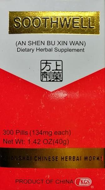 Amazon.com: soothwell (un Shen Xin Wan) 134 mg x 300 ...