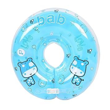 Anillo flotador inflable para bebé, cuello ajustable de seguridad para natación, azul: Amazon.es: Deportes y aire libre