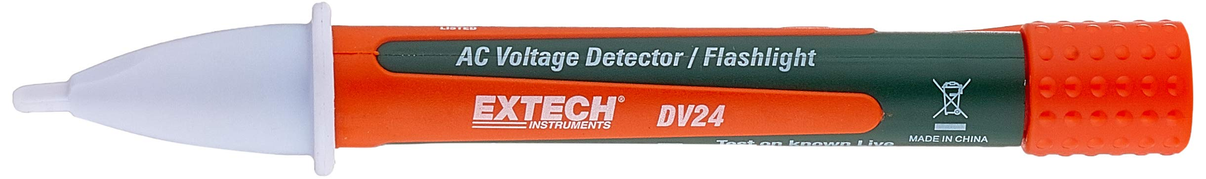 Extech DV24 CAT IV 50-1000V Wide Range AC Voltage Detector and Flashlight