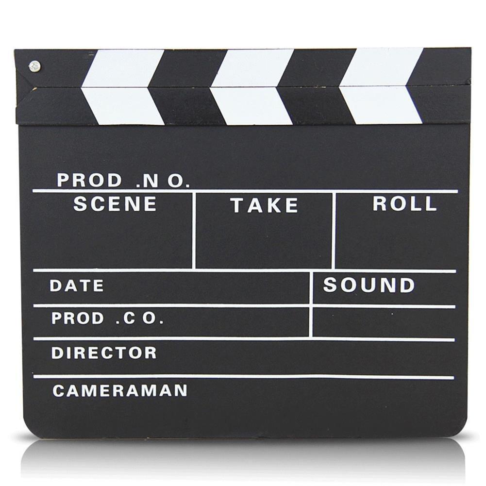 S/o clap de cinéma 30 x 27 cm, regie rabat bull szenenklappe hollywood tableau clapbaord (0071)