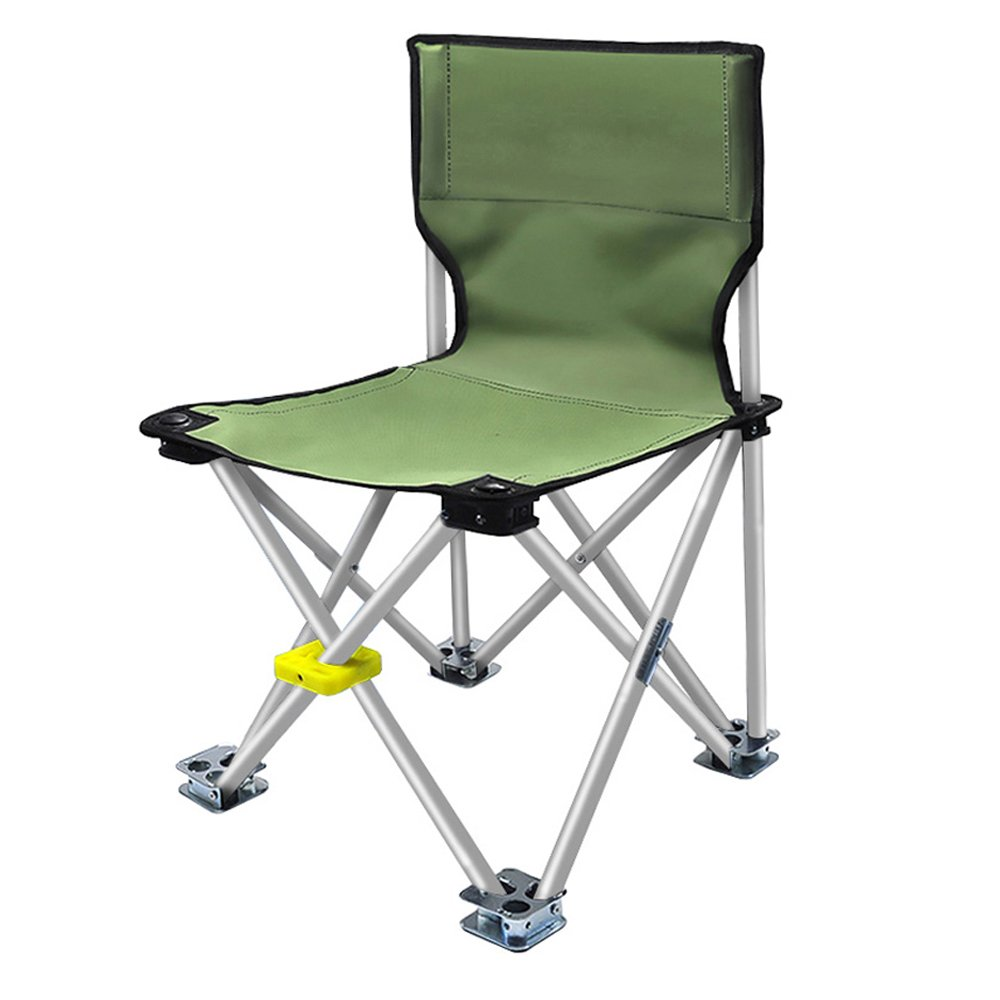 YAXIAO-Folding chair Outdoor Ultra Light Portable Multi-Function Folding Chair Fishing Chair, Beach Chair, Camping Chair, Army Green (Color : Silver)