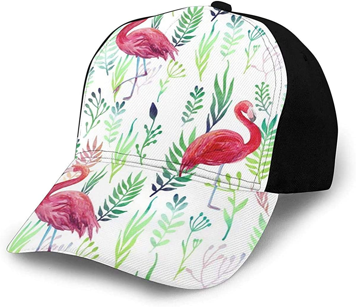 Loving Flamants Lightweight Unisex Baseball Caps Adjustable Breathable Sun Hat for Sport Outdoor Black