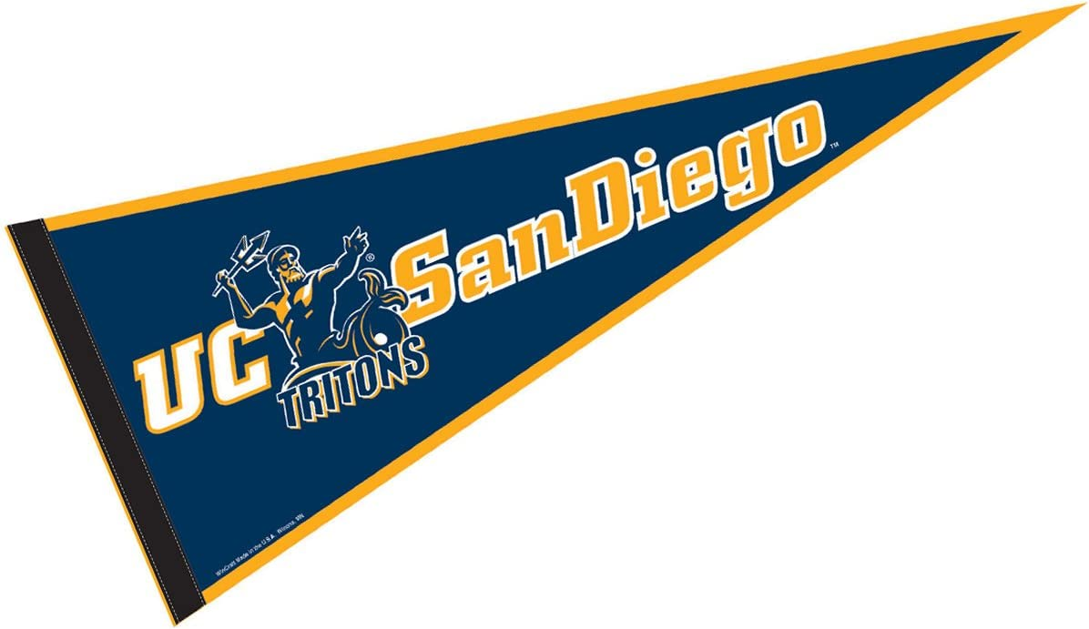Amazon Com College Flags Banners Co Uc San Diego Pennant Full Size Felt Sports Outdoors