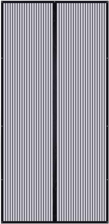 GOUDU Magnet Fliegengitter T/ür Balkont/ür Magnetischer Fliegenvorhang Insektenschutz Fliegenvorhang H/äNde Frei f/ür Balkont/ür Wohnzimmer Terrassent/ür 55x79inch Black A 140x200cm