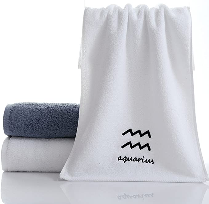 ounona 12 Juego de toallas de algodón puro diseño constelación ...