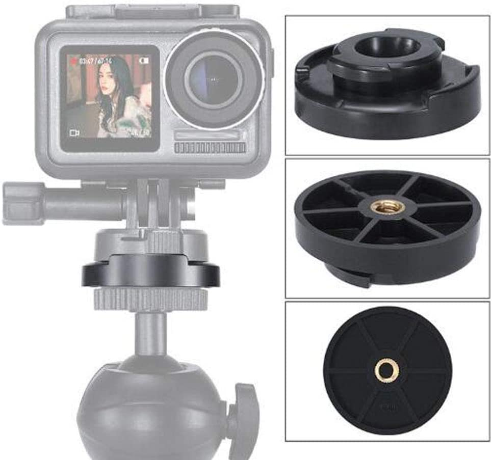 Quick Release Mount Adapter with 1//4 inch Screw Interface for DJI Osmo Action Sports Camera Mugast Quick Release Mounting Base