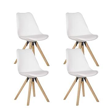 Heyesk Moderne Esszimmerstühle Set Von 4 Natürlichen Holzbeine