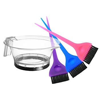Hair Dye Bowl and Brush Set / Salon Tint Coloring Applicator Supplies,  Dyeing Accessories Tool Kit