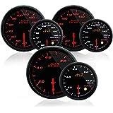 オートゲージ AUTOGAUGE 水温計 油温計 油圧計 3点セットC 3連メーター 430シリーズ 60mm 60Φ スモークレンズ
