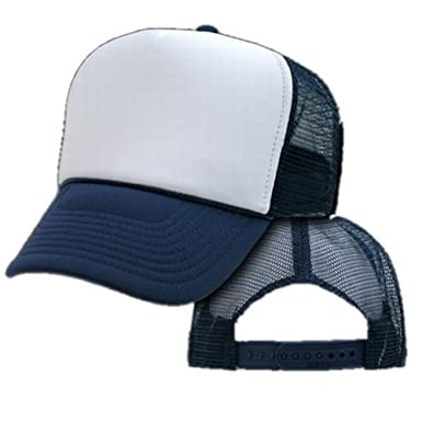 Amazon.com  Bulk Two Tone Trucker Hats (By The Dozen) (Assorted ... c9265376f599