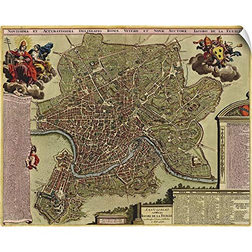 CANVAS ON DEMAND Antique Map of Rome, ca. 1710