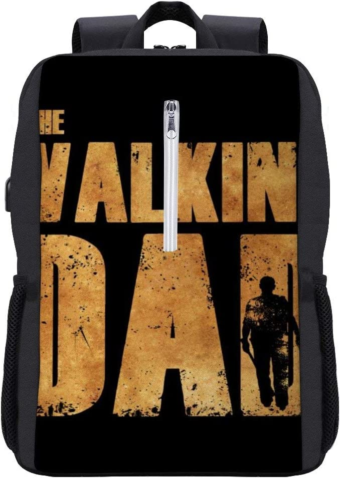 The Walking Dead Dad Backpack Daypack Bookbag Laptop School Bag with USB Charging Port