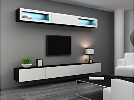 BMF Vigo Mini 11 gabinetes de Pared Vertical con Flotante/para Colgar Soporte de TV en Mate/Brillante Acabado: Amazon.es: Hogar