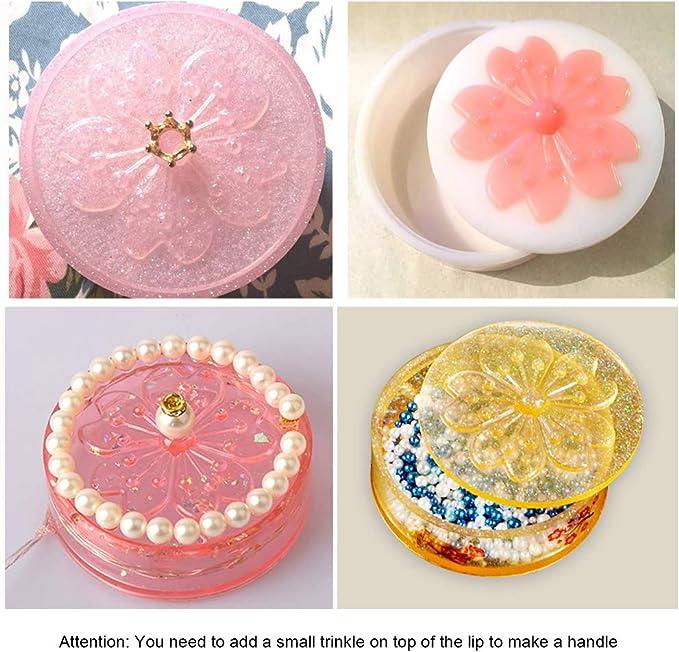 Resina epoxi de cristal molde de p/étalo placa plato de fundici/ón de silicona molde DIY manualidades decoraciones de joyer/ía haciendo herramientas