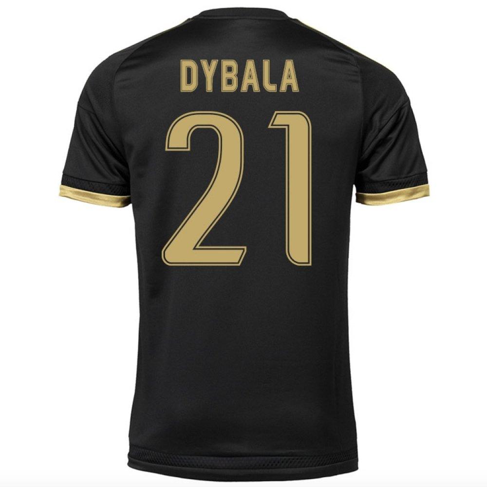 2015-16 Juventus Third Shirt (Dybala 21) Kids B077VGBMXWBlack Small Boys 26-28\