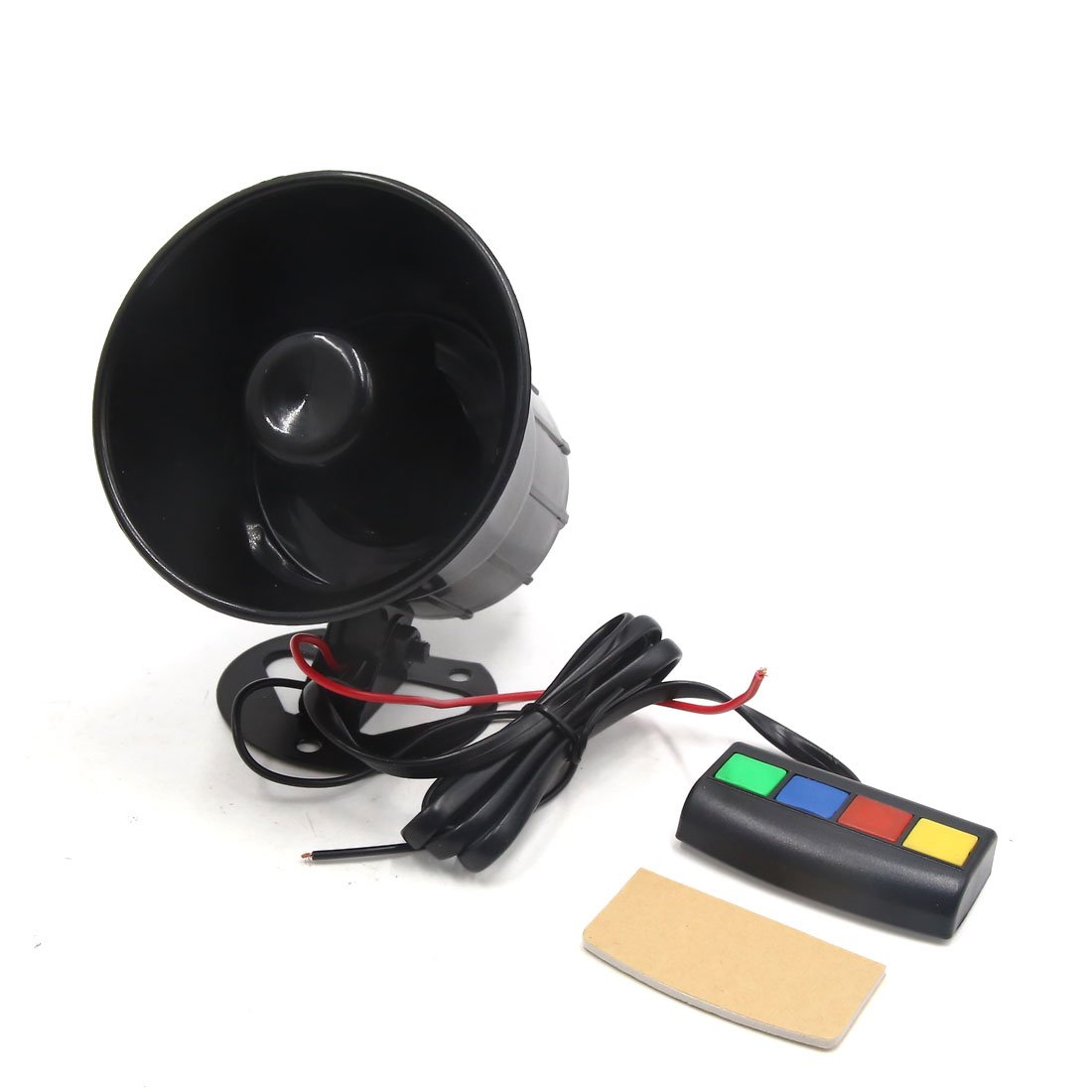 uxcell DC 12V 30W 105dB Black 4 Sounds Siren Speaker Electric Horn Trumpet for Car Auto