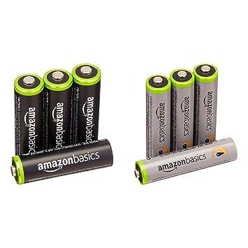 Amazon.com: AmazonBasics Pilas recargables AAA de alta ...