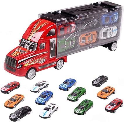 Amazon.com: Coonline juguete de transporte de coches de ...