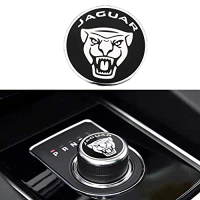 MAXDOOL Panel Frame Cover Trim Accessories Gear Shift Knob Cover Decoration Trim Sticker for Jaguar XF XE XJ F-Pace (Black): Automotive
