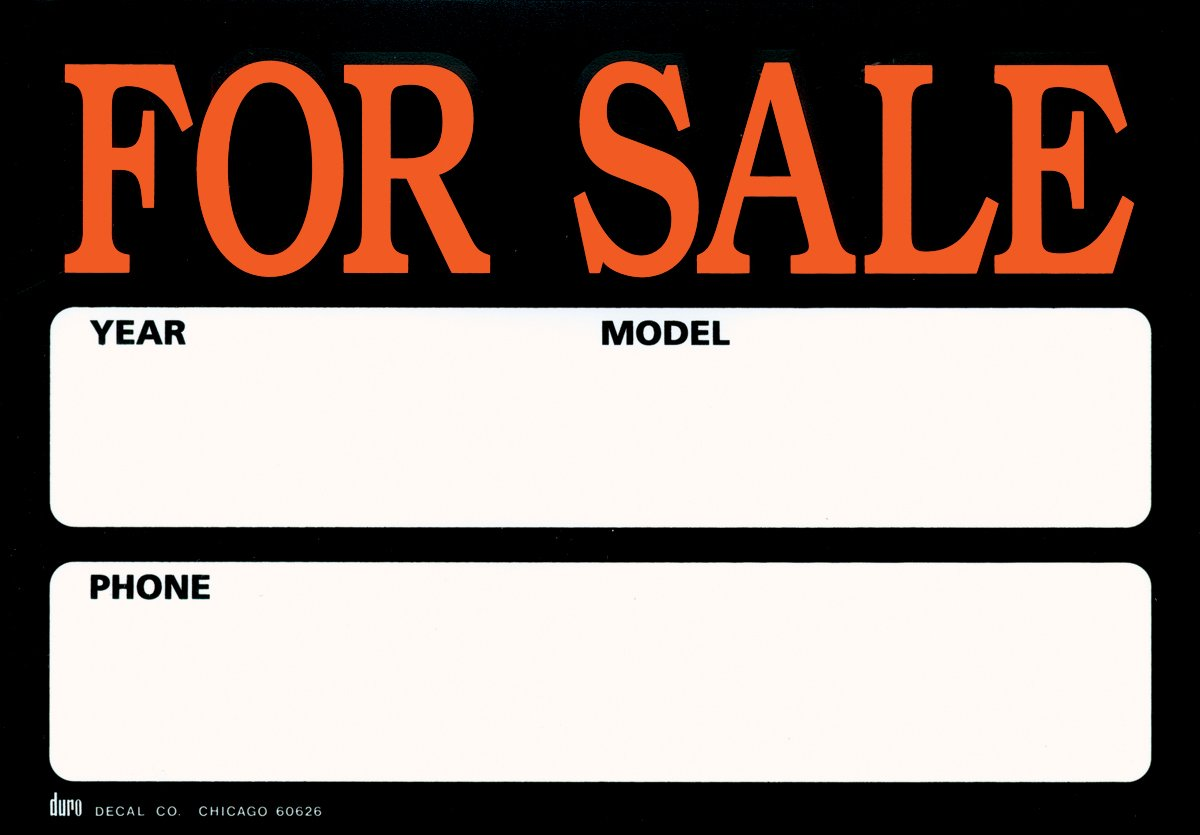 Graphic Products Duro Brite Signs 11.5''X8''-For Sale/Auto