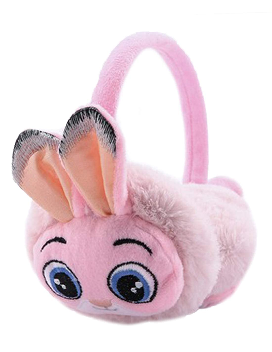 Zanlice Winter Girls Cute Rabbit Adjustable Fleece Earmuff
