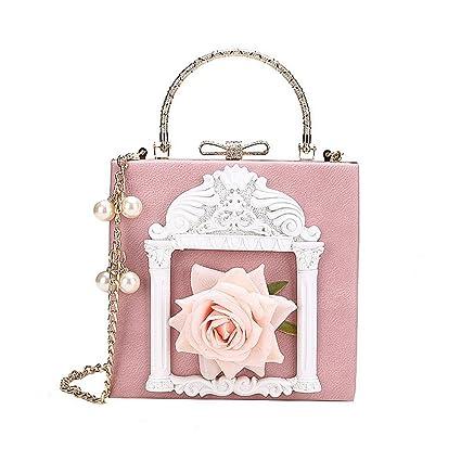 fa7f9eba472b Amazon.com: GMYANDJB Women's Bags PU Shoulder Bag Appliques Buttons ...