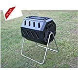 Plastic Compost Tumbler Outdoor Garden Dual Chamber Design Composting Bin & eBook By Easy&FunDeals