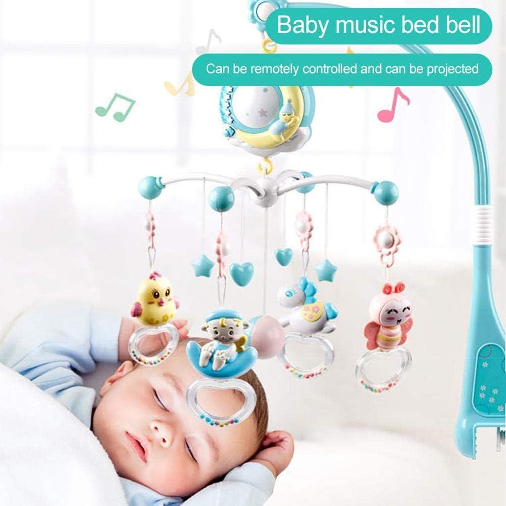 Julyfun Bebé Cuna Musical móvil con proyector y Luces, Juguete de ...