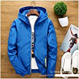 Marck Sch Fashion Reflective Polyester Jacke Plus Size 7Xl Mens Jackets And Coats Hooded Waterproof Windproof Jacket Z40 Jk48 blue M
