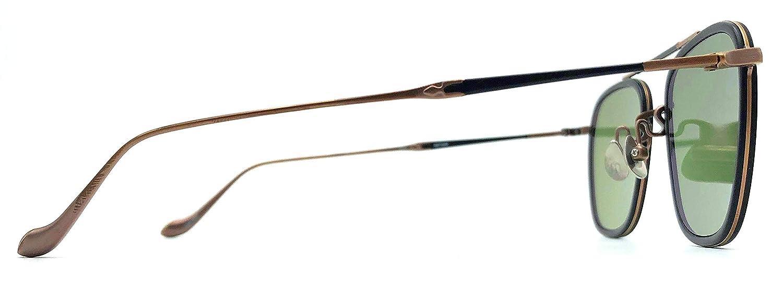 Amazon.com: Matsuda M3081 - Gafas de sol con lentes verdes ...