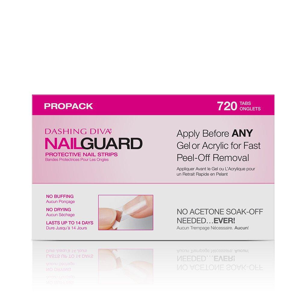 Amazon.com : Dashing Diva Nail Guard Protective Strips, 720 ct : Beauty