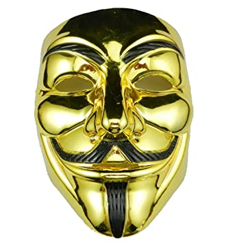 GEEKSLIFE Máscara Anonymous - V para Vendetta - Revolution - Oro
