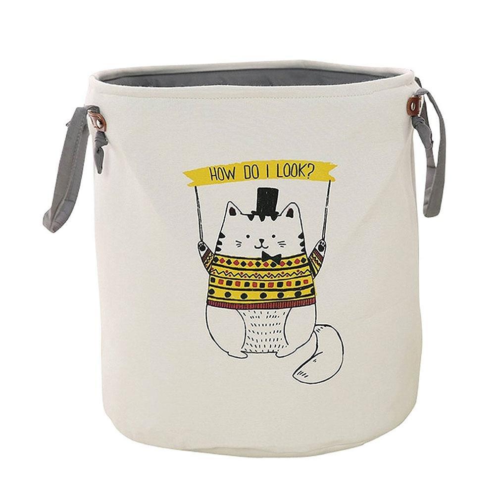 Wäschesäcke Wäschekörbe, Pawaca Faltbare Verdicken Dual-Layer-Stoff Runde Cartoon Print Organizer Bin mit Griff für Spielzeug, Kleidung Home Baby Nursery Verwenden, Elefant