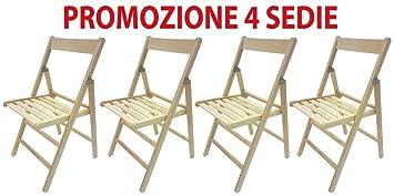 4 sillas plegables, de madera de haya, ergonómica para ...