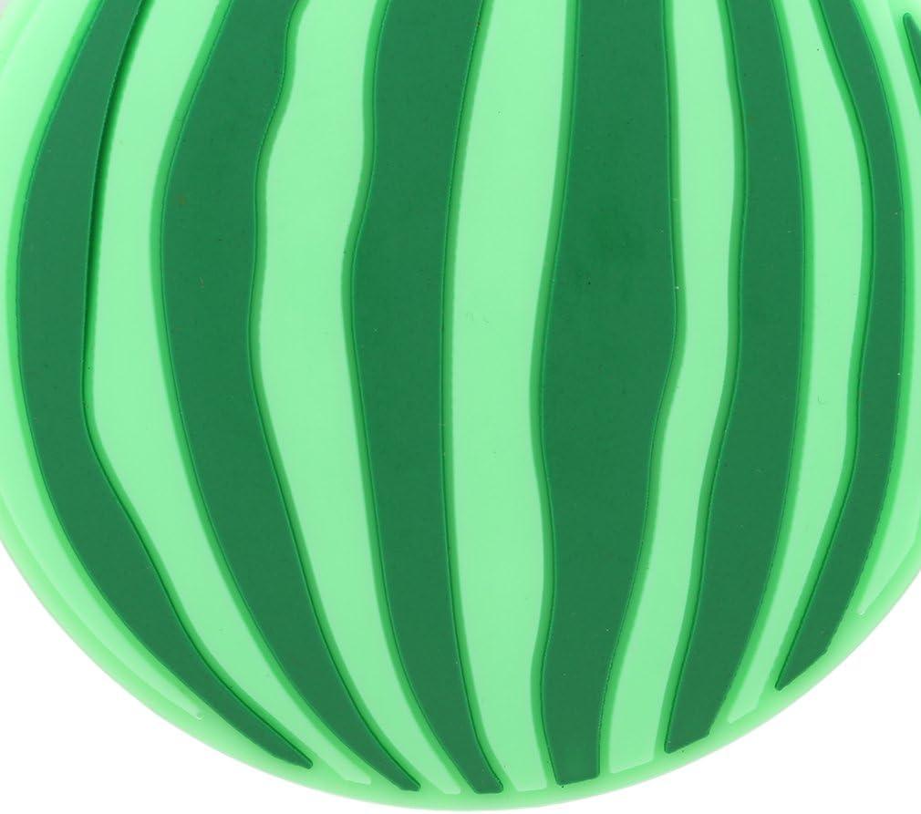 Yinew /étiquette de bagage en silicone en forme de nourriture /étiquettes /à bagages Nom adresse ID Valise de voyage /étiquettes As description Green Full Watermelon