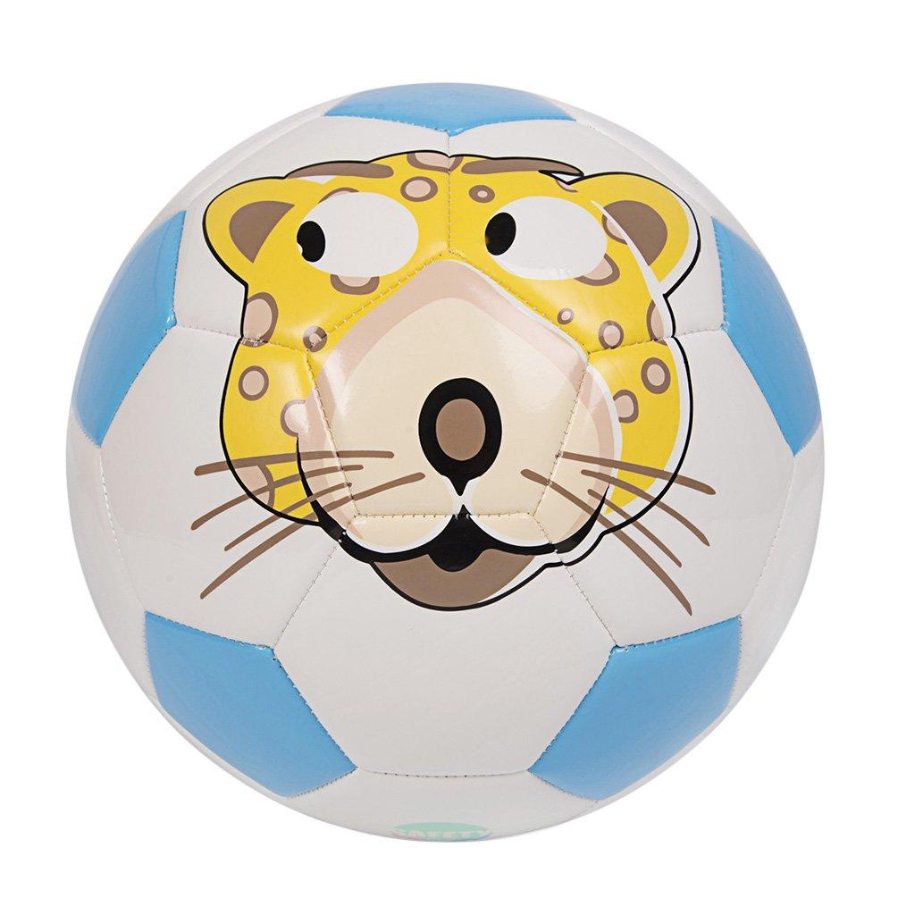 GLORY Cartoon Toddler Soccer Ball, Soft TPU Cover, Blue, Size 4